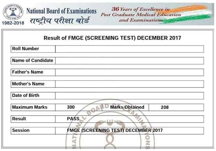 certicate 3 FMGE Pass Certificate 2021