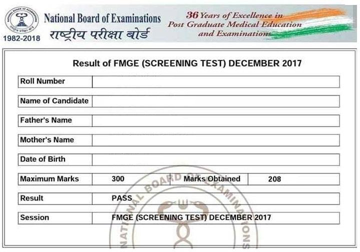 certicate 3 FMGE Pass Certificate