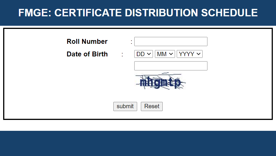 certificate FMGE Pass Certificate 2021