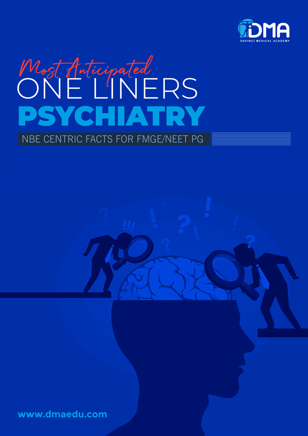 psychiatry LMR for FMGE August-2020: Psychiatry